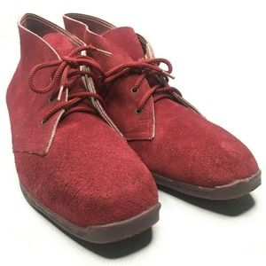 Famolare Made in Italy Chukka Boots Suede Red Wine